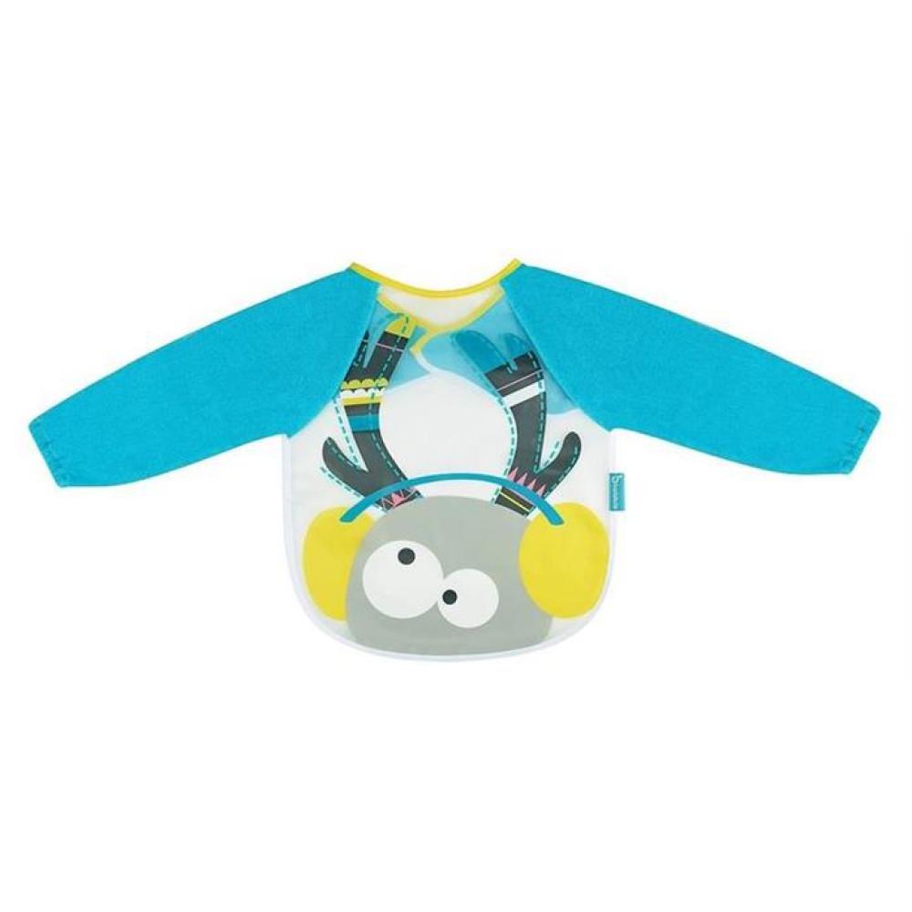 Badabulle – Baveta cu maneci lungi Blue Deer