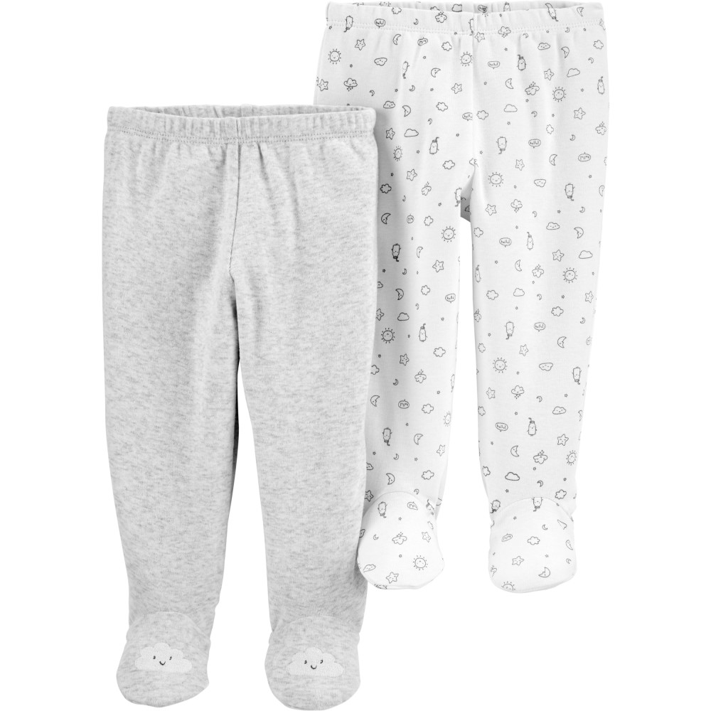 Carter's Set 2 piese pantaloni bebelus Norisori