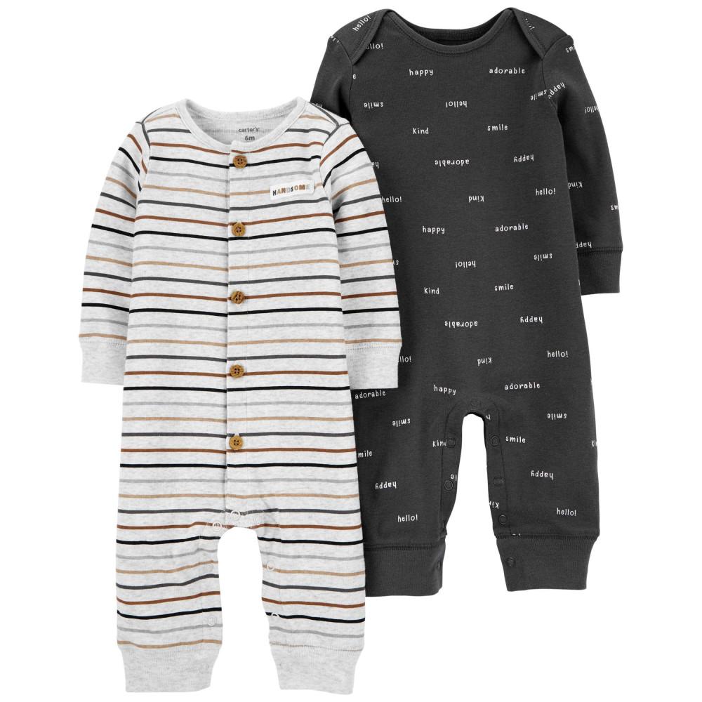 Carter's Set 2 piese pijamale bebe cu nasturi
