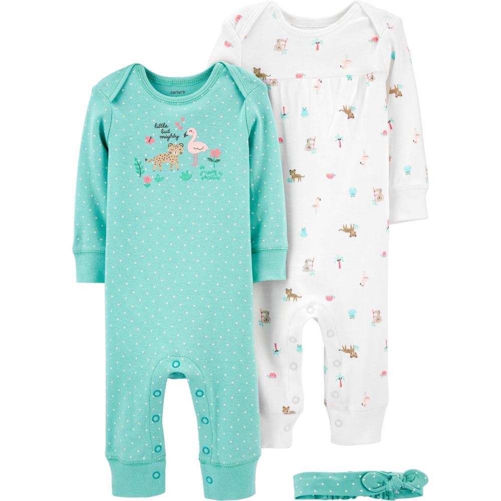 Carter's Set 3 piese 2 pijamale bebelus si bentita