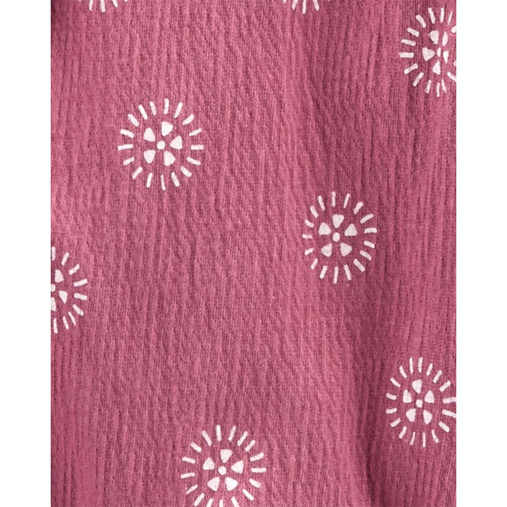 Carter's Set 2 piese tricou si salopeta roz
