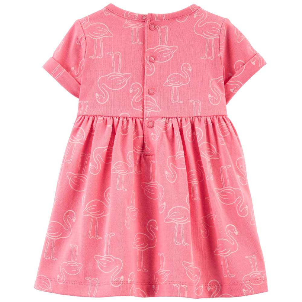 Carter's Set 2 piese salopeta si rochita Flamingo