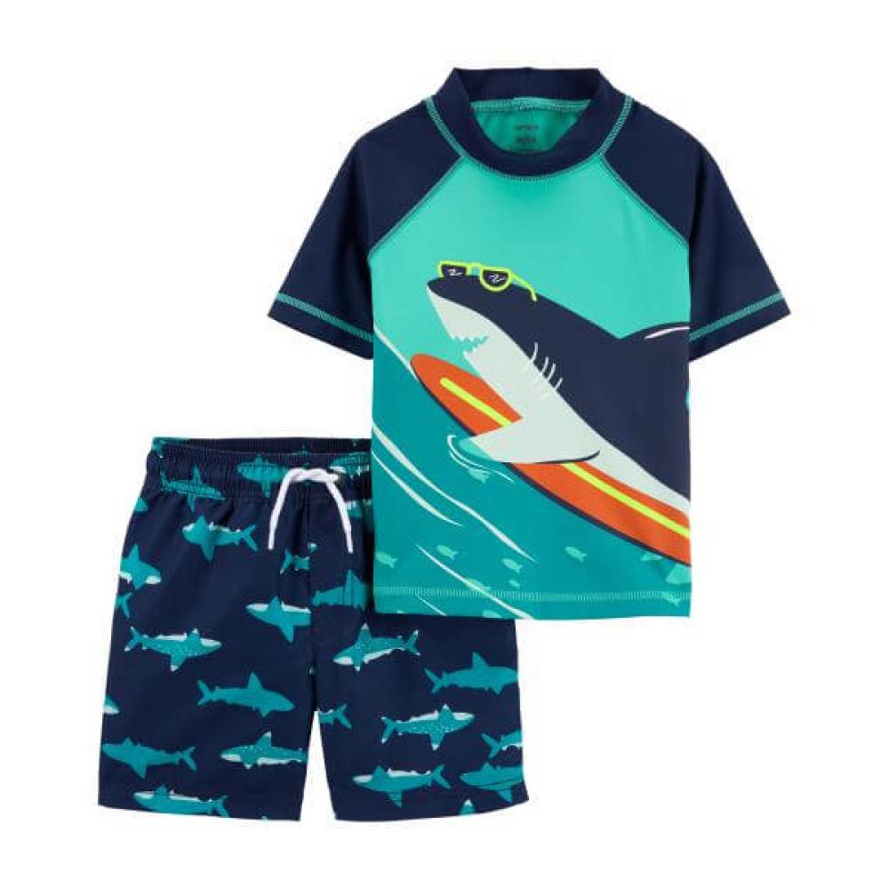 Carter's Costum de baie cu protectie solara din 2 piese Rechin