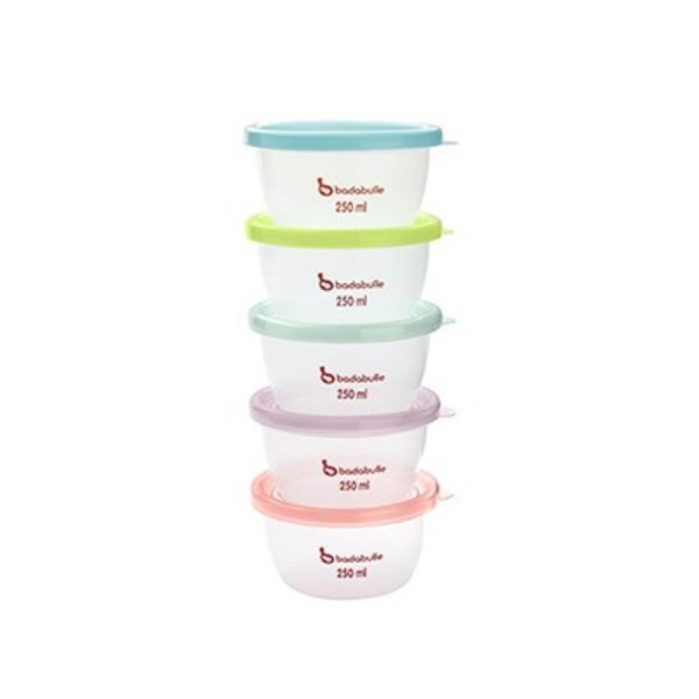 Badabulle - Set 5 boluri pentru pastrarea alimentelor