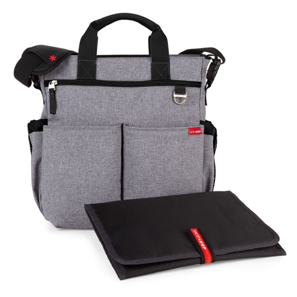 Skip Hop-Geanta de scutece Duo Signature Heather grey