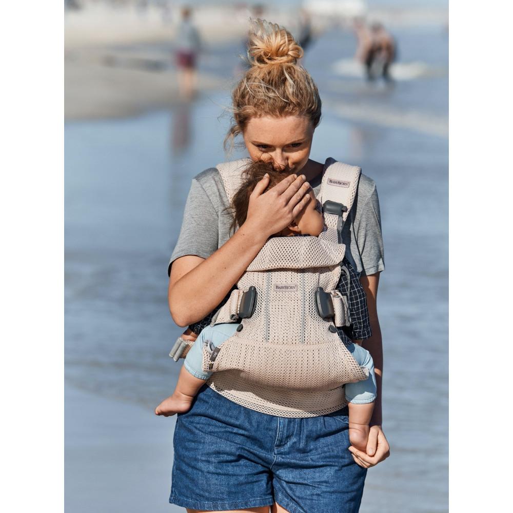 Marsupiu anatomic BabyBjorn One Air - Slate Blue, 3D Mesh