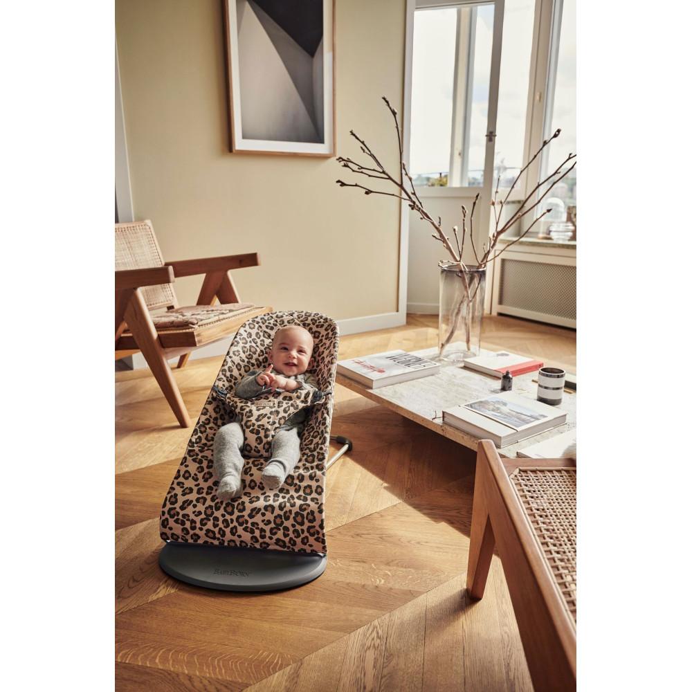 BabyBjorn - Balansoar Bliss Beige/Leopard, Bumbac - Editie Limitata
