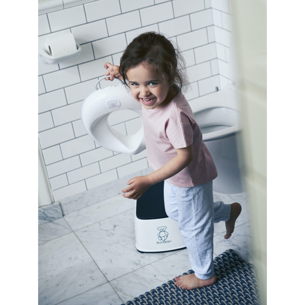 BabyBjorn - Reductor pentru toaleta Toilet Training Seat, White/Grey