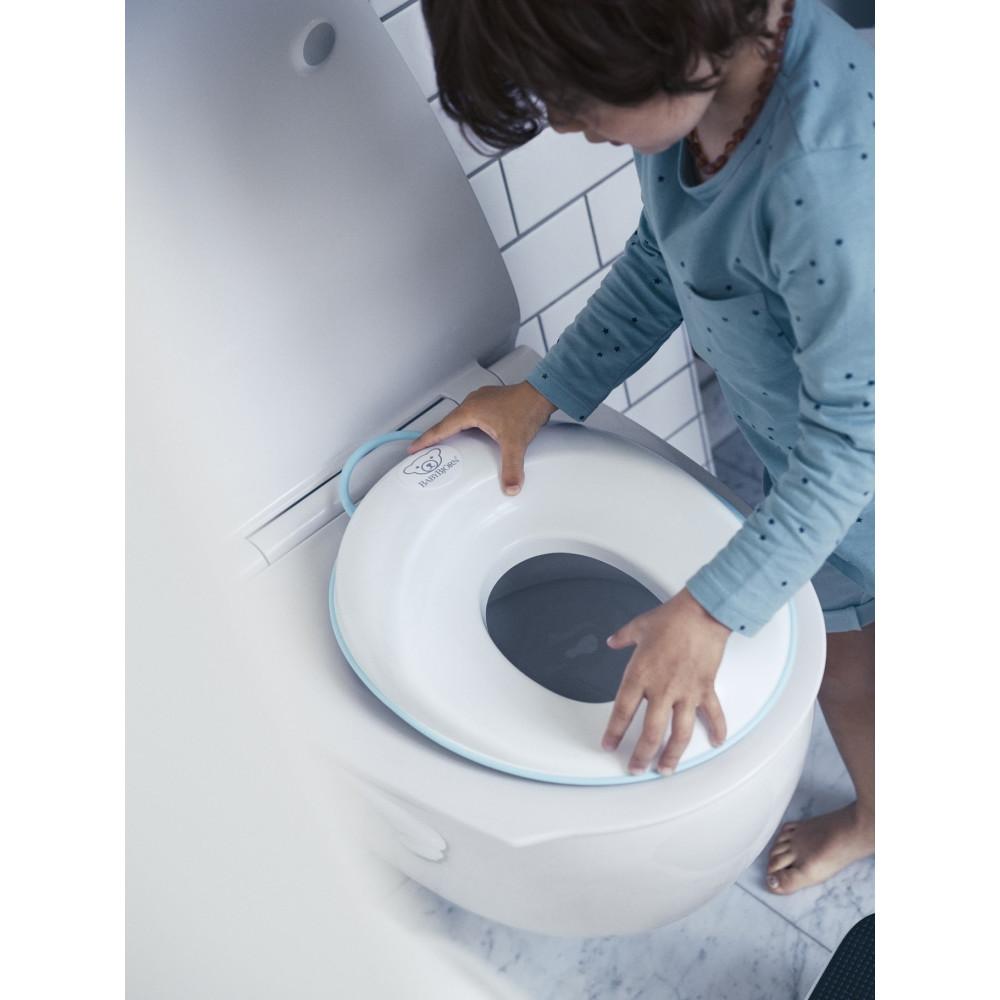 BabyBjorn - Reductor pentru toaleta Toilet Training Seat, White/Turquoise