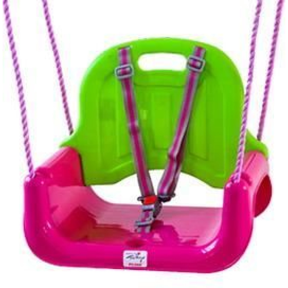 BabyGo - Leagan transformabil 3 In 1 - Pink Green