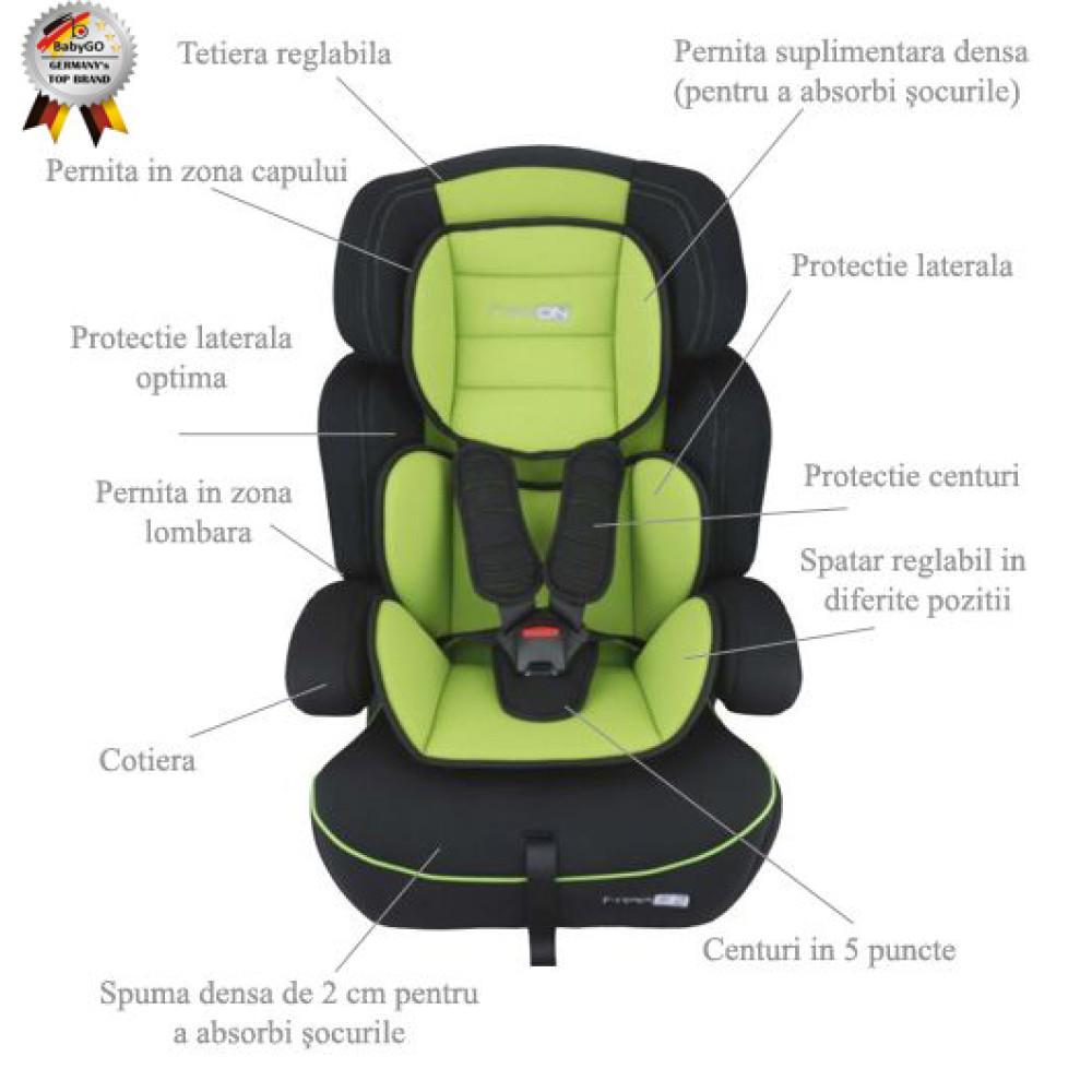 BabyGo - Scaun Auto Freemove Green