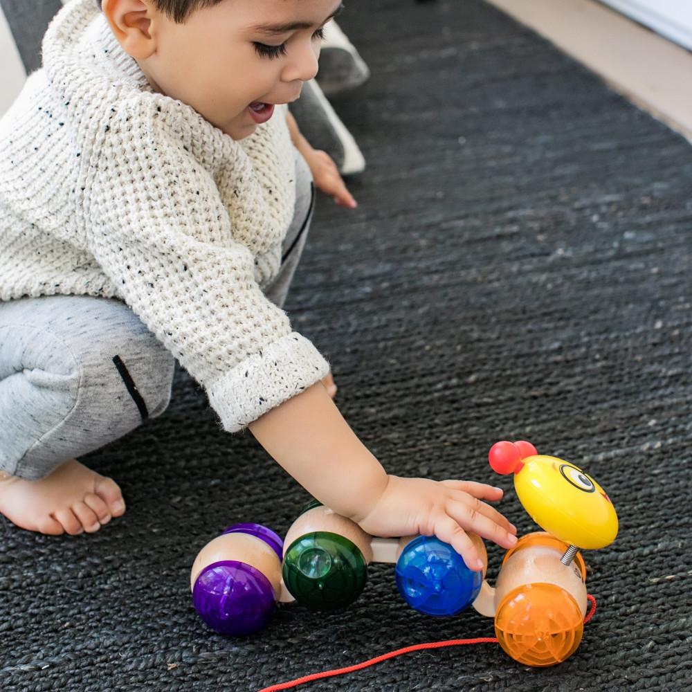 Baby Einstein – Jucarie din lemn Hape Inch Along Cal™