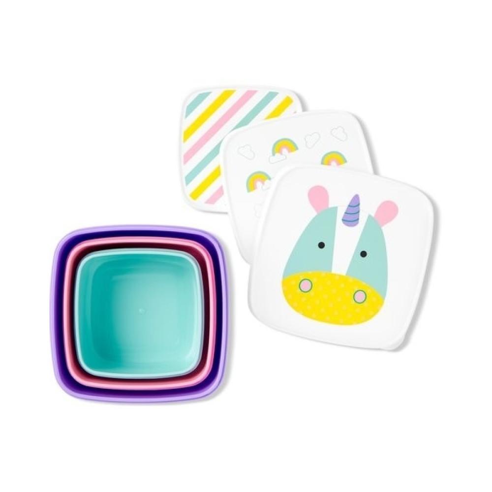 Skip Hop - Set 3 cutii pentru pranz Zoo - Unicorn