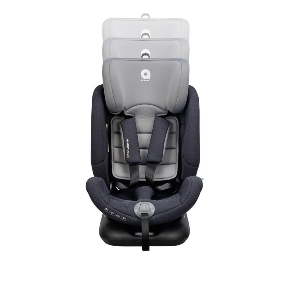 Apramo - Scaun auto rotativ Unique Agate Grey, 0 - 36 kg