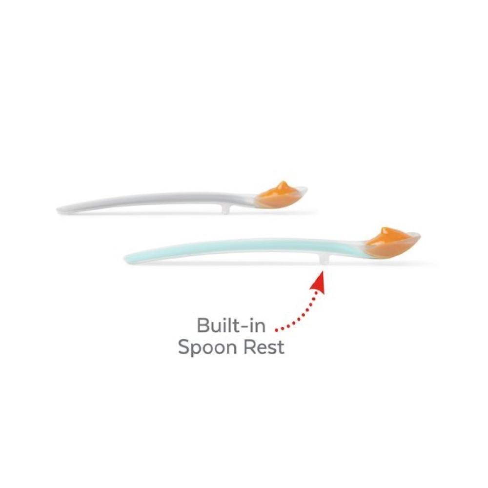 Skip Hop - Set 2 lingurite Easy Feed - Gri + turcoaz