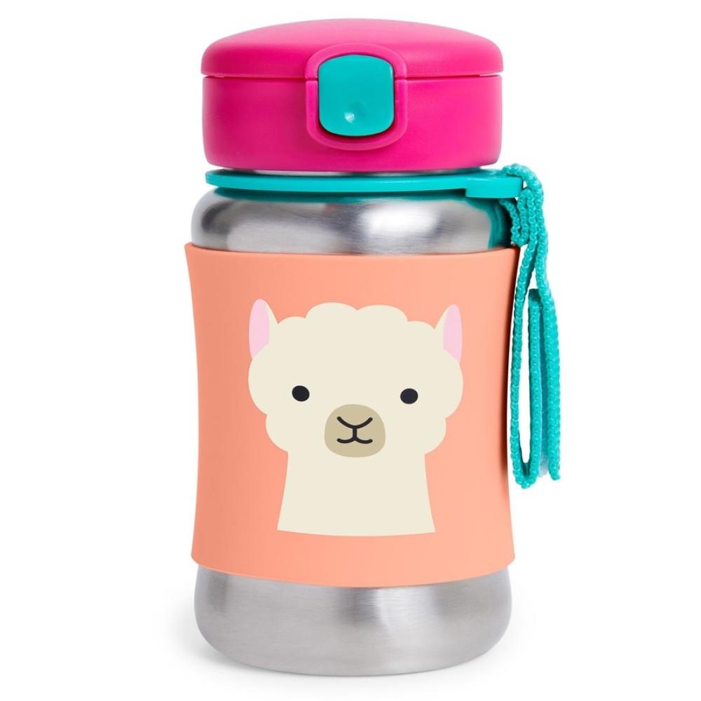 Skip Hop - Sticla din otel inoxidabil cu pai Zoo – Lama