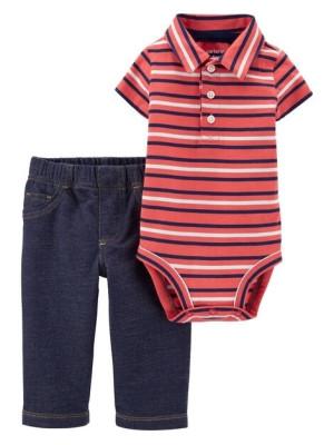 Carter's Set 2 Piese Polo body & pantalo