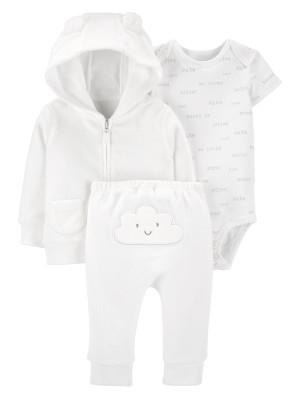 Carter's Set 3 piese bebelus hanorac pantaloni si body Norisor