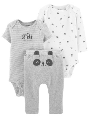 Carter's Set 3 Piese bebe 2 body si pantaloni Panda
