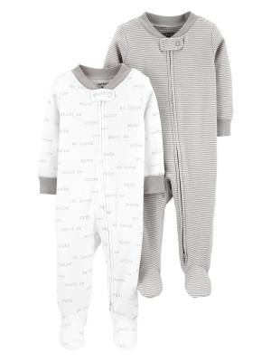 Carter's Set 2 piese pijamale bebelus text si dungi