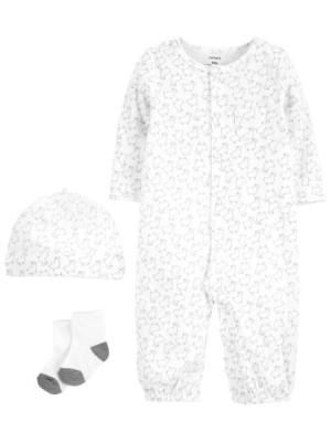 Carter's Set 3 piese pijama convertibila caciulita si sosete Oite