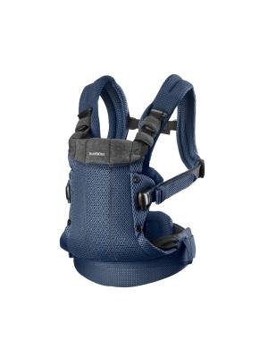 BabyBjorn - Marsupiu anatomic cu multiple pozitii de purtare colectia Harmony, 3D Mesh, Navy Blue - Editie Limitata