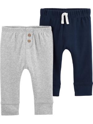 Carter's Set 2 piese pantaloni marin/gri