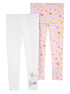 Carter's Set 2 pantaloni Flori