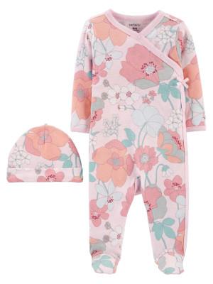 Carter's Set 2 piese pijama si caciulita