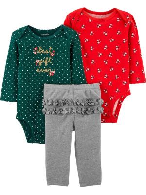 Carter's Set 3 Piese bebelus 2 body si pantaloni Cel mai frumos cadou