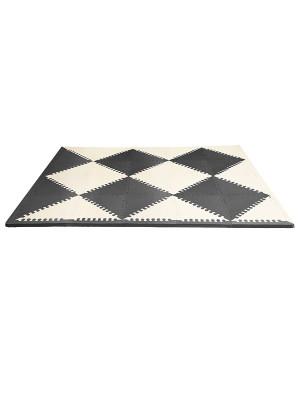 Skip Hop Covoras de joaca puzzle - Geometric Playspot, Negru / Bej