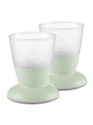BabyBjorn - Set Pahare pentru bebe (2 buc), Powder Green