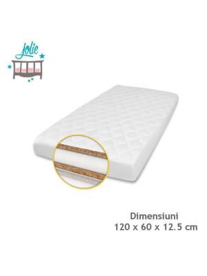 Jolie - Saltea Superlux Cocos-Burete-Cocos pentru patut 120×60 cm