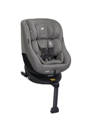 Joie – Scaun auto Rotativ cu Isofix Spin 360° Gray Flannel, 0-18 kg