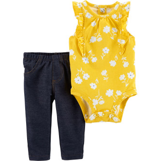 Carter's Set 2 Piese Floral body & pantaloni