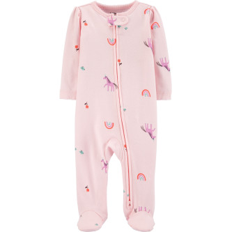 Carter's Pijama cu fermoar reversibil Unicorn 100% Bumbac Organic