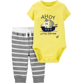 Carter's Set 2 piese bebelus pantaloni si body Pirat