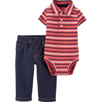 Carter's Set 2 Piese Polo body & pantalo