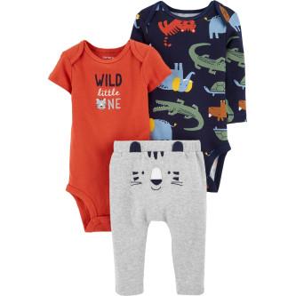 Carter's Set 3 Piese bebelus 2 body si pantaloni Tigru