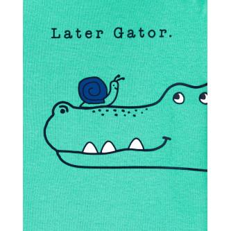 Carter's Set 3 piese pantaloni si doua body Aligator