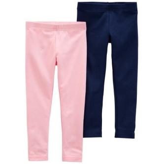 Carter's Set 2 colanti roz si bleumarin