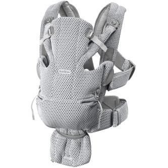BabyBjorn - Marsupiu anatomic Move, Grey, 3D Mesh