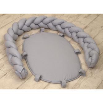 Jolie - Suport pentru Baby Nest Pure Grey, 80*45 cm