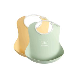 BabyBjorn - Set 2 bavete, Powder Yellow/ Powder Green