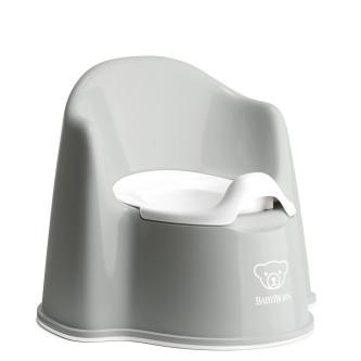 BabyBjorn – Olita cu protectie spate Potty Chair Grey / White