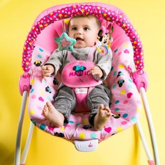 Bright Starts - Leagan portabil Rocker Minnie Stars & Smiles