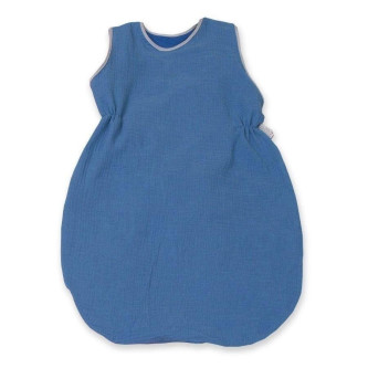 Jolie - Sac de dormit bumbac 100%, Albastru (68 cm)